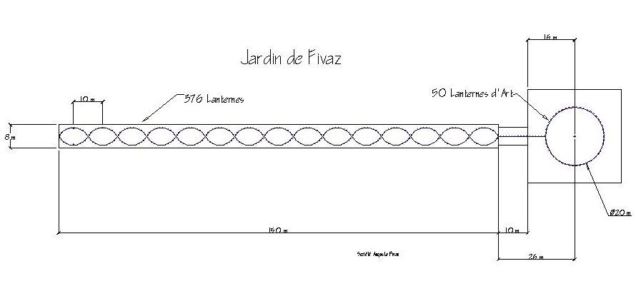 The Plan For The Jardin De Fivaz